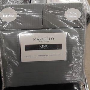 4pcs King size sheet set grey